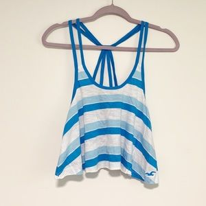 Hollister Blue and White Striped Tank